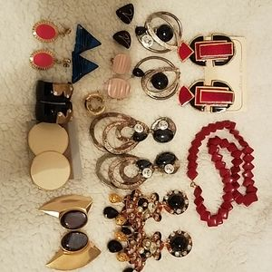 Collection of authentic 80's jewelery